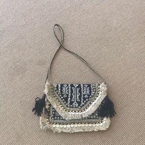 Embellished envelope/ shoulder bag